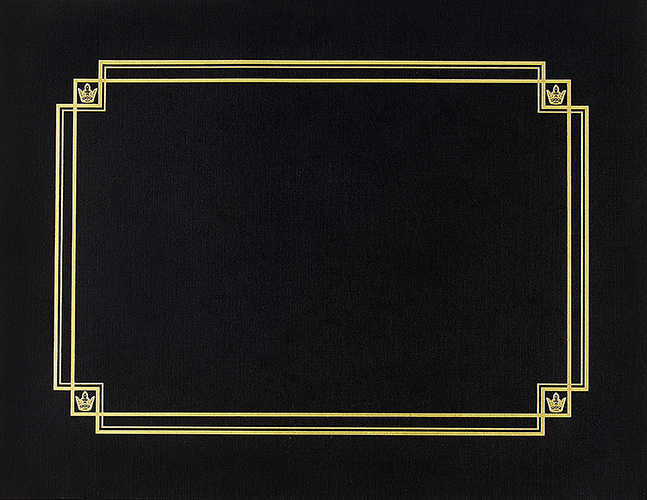 Black Linen Certificate Cover 3CT