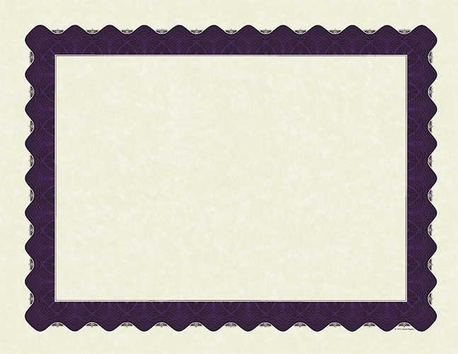 Metallic Purple Certificate 100CT