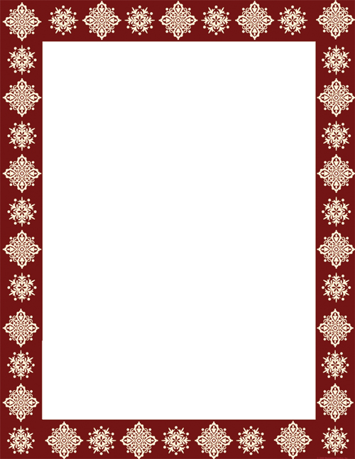 Burgundy Ornament Letterhead
