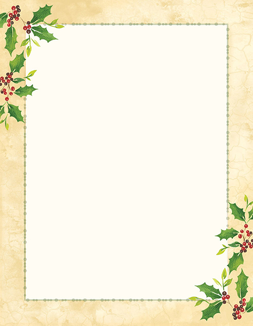 Falling Holly Letterhead 25CT
