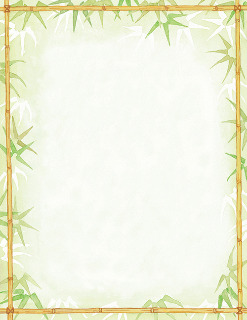 Bamboo Leaves Letterhead 80