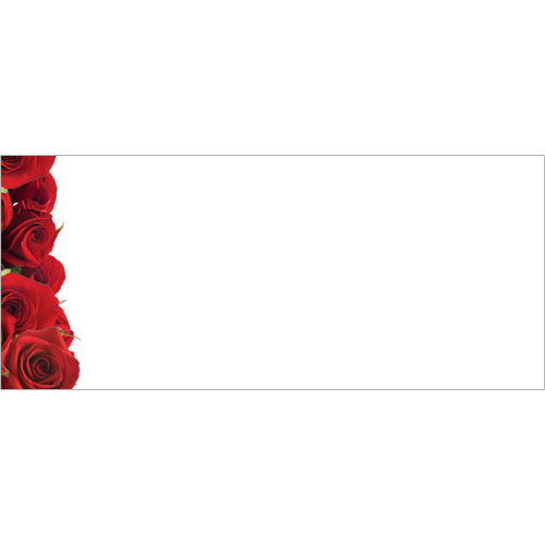 Red Roses Border #10 Envelope