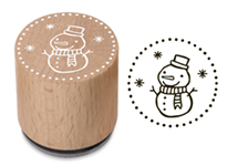 Woodies Stamp Snowman