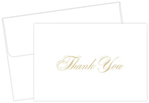 Gold Thank You Notecards 48CT