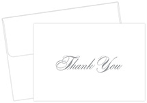 Silver Thank You Notecard 48CT