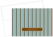 Brown & Blue Stripes Thank You