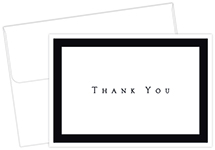 Tuxedo Black Thank You Notecard 50CT