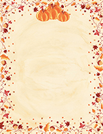 Painted Pumpkin Letterhead 80Ct