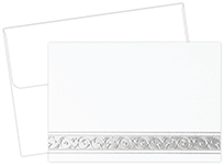 Silver Filigree Note Card
