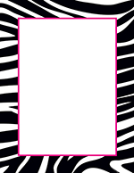 Black & White Zebra Letterhead 20CT