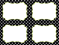 Black & White Dots 4 Up Postcard 40CT