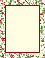Candy Cane & Holly Letterhead