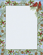 Cardinal With Pine Letterhead 80CT