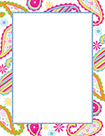 Patterned Paisley Letterhead