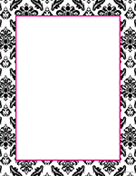 Black & White Damask Letterhead 80CT