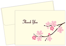 Blossom Branches Thank You Notecard 50CT