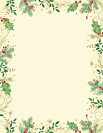 Holly Branches Letterhead 80CT