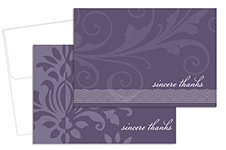 Amethyst Flourish Thank You Notecard 24CT
