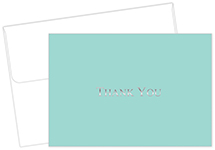 Bella Blue Thank You Notecard 20CT
