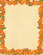 Painted Maple Leaves Letterhead 80CT