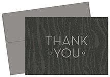 Grey Woodgrain Thank You Note