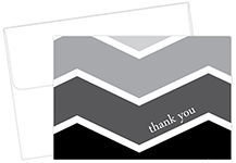 Ombre Chevron Thank You Notes