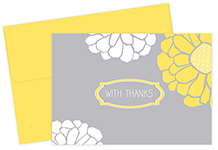 Sunny Flowers Thank You Note