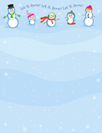 Let It Snowmen Letterhead 80CT