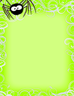 Green Spidey Swirls Letterhead 80CT