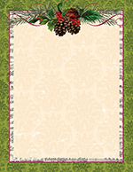 Pinecone Garland Letterhead 25CT