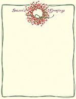 Seasons Greetings Wreath Letterhead 80CT