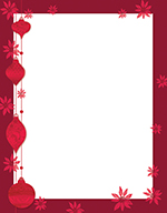 Painted Poinsettia Letterhead