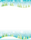Snowy Trees Letterhead 80CT