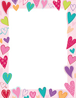 Dancing Hearts Letterhead 80CT