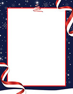 Patriotic Holiday Letterhead 80CT
