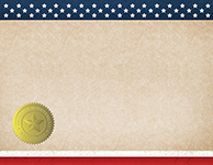 Patriotic Completion (Blank) Certificate 25CT