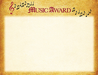 Music Certificate 25 Count