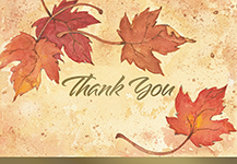 Fall Leaves Thank You Notecard 50CT