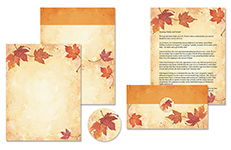 Fall Leaves Self Mailer 50CT