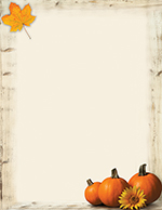 Pumpkin Sunflower Letterhead 80CT