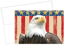 Patriotic Foil Thank You Notecard 20CT