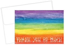 Rainbow Love Thank You Notecard 20CT