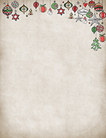 Vintage Ornaments Letterhead 80CT