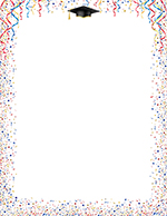 Celebrate Grad Hat and Confetti Letterhead 80CT