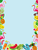 Tropical Vibes Letterhead 80CT