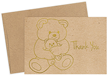 Teddy Bear Foil Thank You Notecard 50CT