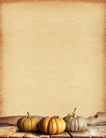 Fall Pumpkins Letterhead 25CT