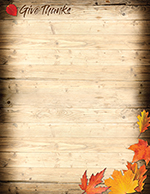 Give Thanks Letterhead 80CT