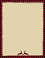 Buffalo Plaid Reindeer Letterhead 25CT