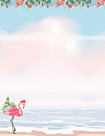 Merry Flamingo Letterhead 80CT